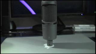 review audio technica at2020 usb cardioid condenser microphone and audio test
