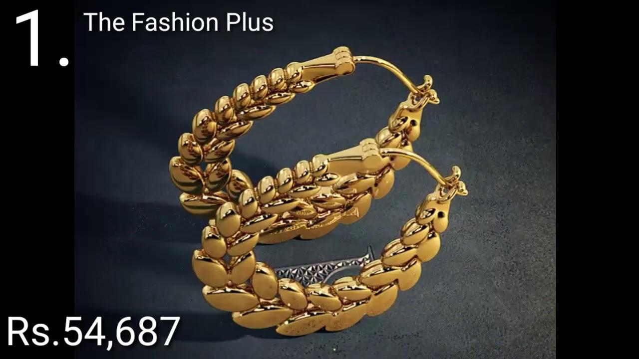 2fe886d59 Gold Hoop Earrings Designs with PRICE BY BLUESTONE - YouTube