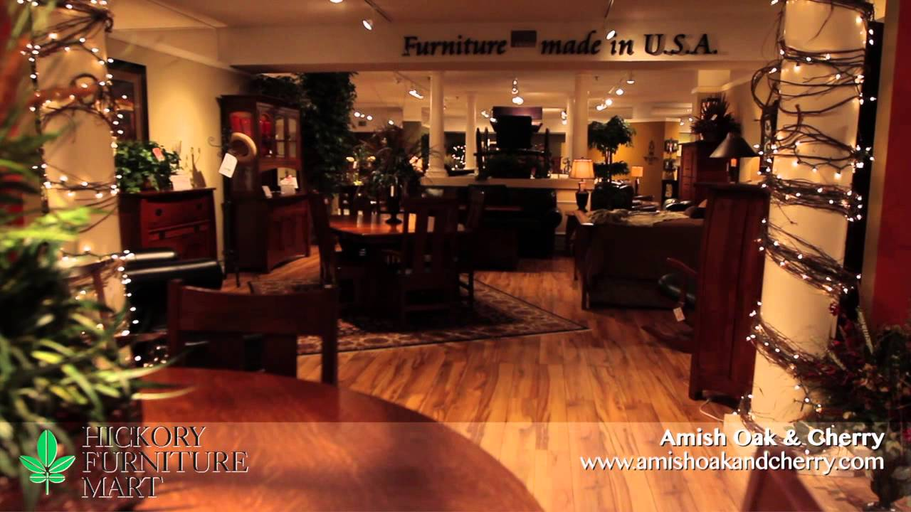 Amish oak cherry hickory furniture mart in hickory for Furniture mart