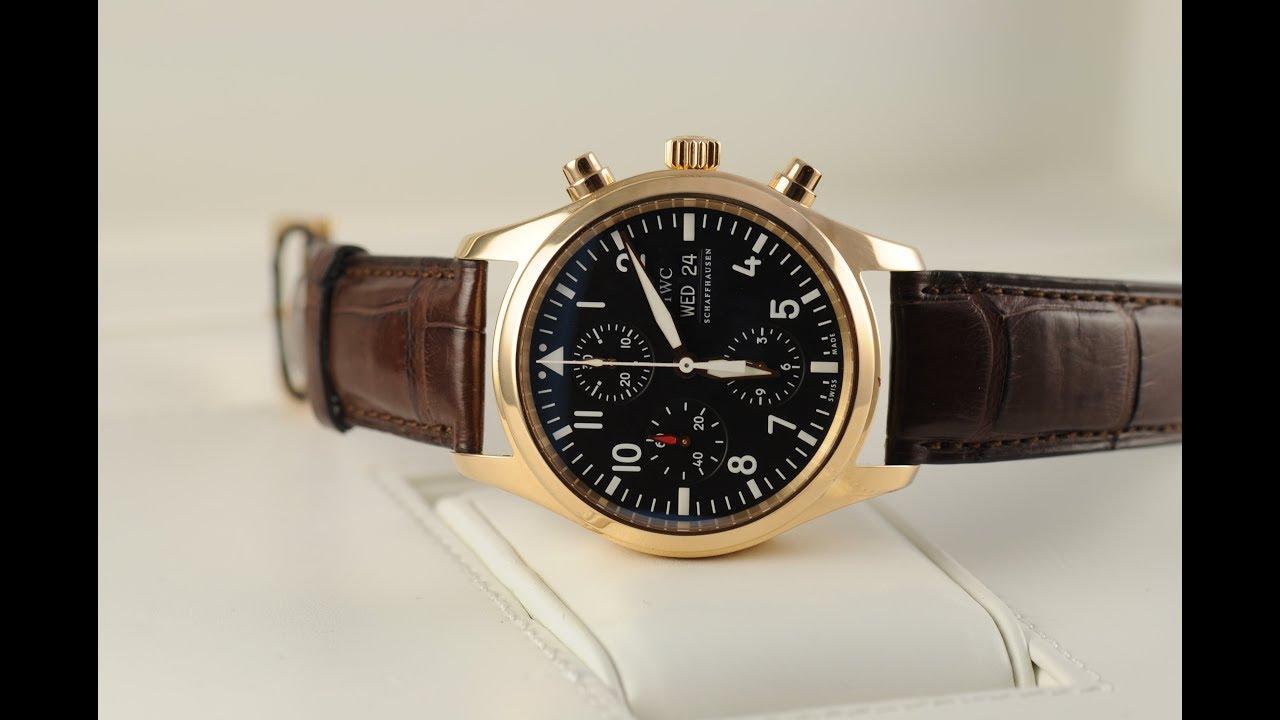 EWC Review of Stunning 18ct Rose Gold IWC Pilot's Watch