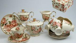 Чайный сервиз Letoile design de Limoges корейская роза 215-023 - обзор Posudaclub.kiev.ua