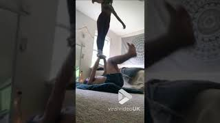 Couple fail to perform balance routine || Viral Video UK