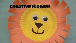 DIY- Cute lion 🦁 - Lindo leon 🦁  - Creative Flower