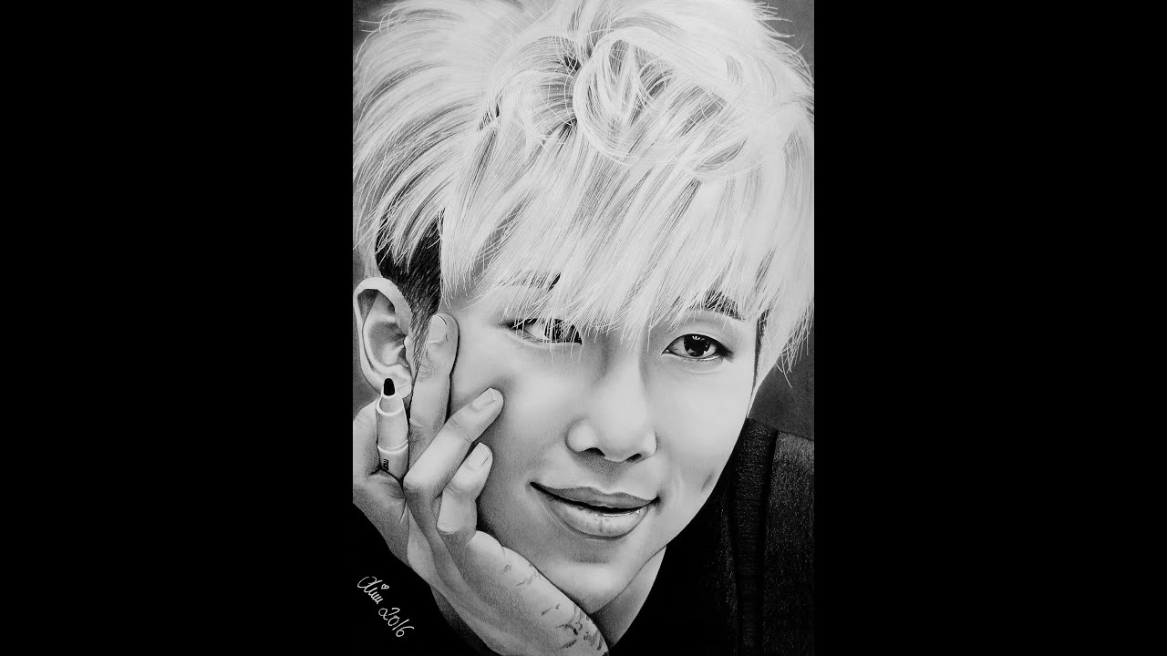 Rap Monster   BTS  ARMY  Speed Drawing  Bangtan