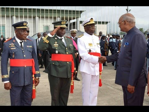 President Kovind arrives in Malabo, Equatorial Guinea