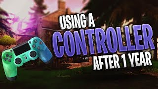 Using a Controller on Fortnite after 1 Year! Aim assist is OP! (Fortnite Battle Royale)
