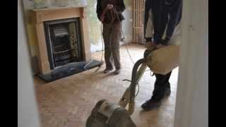 Time lapsed video of laying a Parquet Floor