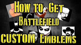 Battlefield 1 - How To Get A Customize Emblem (Easy)