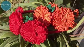 Lindas flores Kanzashi