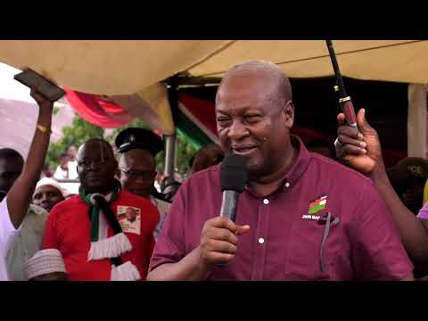 John Mahama campaigns in the Kwabre East Constituency of the Ashanti Region