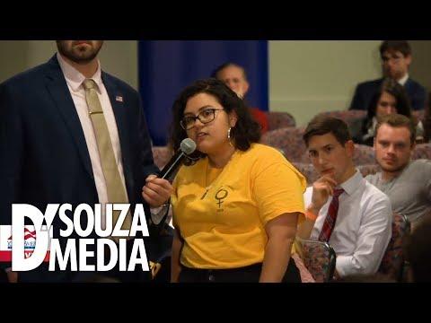 "D'Souza DESTROYS ""proud Democrat"" in heated Q&A"