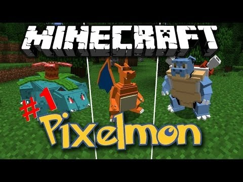 minecraft pixelmon ตอนที่ 1 โปเกม่อนตัวแรก
