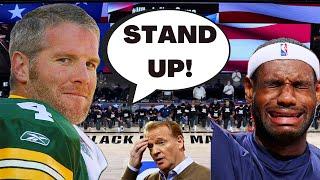 BRETT FAVRE HAMMERS Woke Sports! Slams Kneeling During The National Anthem