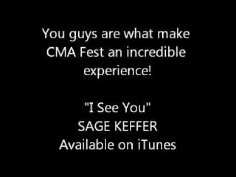 "CMA Music Festival, ""I See You""/ Sage Keffer greeting fans: Day 2 Video 14"