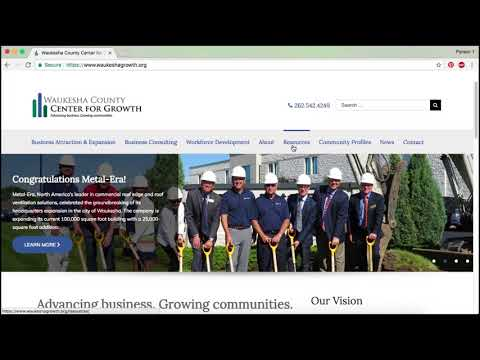 Waukesha County Center for Growth website