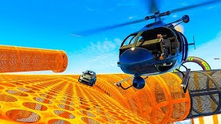 Helicopters VS Cars Minigame - GTA V Online Funny Moments | JeromeACE