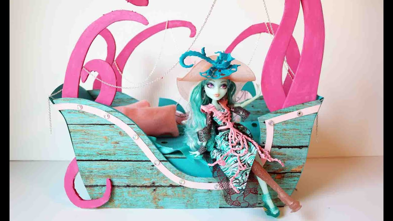 How to make a Vandala Doubloons doll bed tutorial - Monster High ...