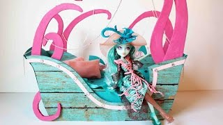 How To Make A Vandala Doubloons Doll Bed Tutorial - Monster High