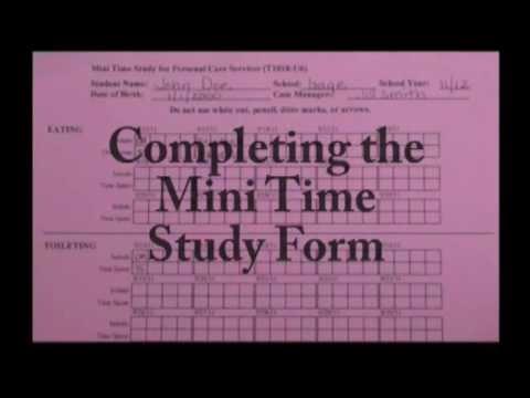 The Mini Time Study Form Youtube