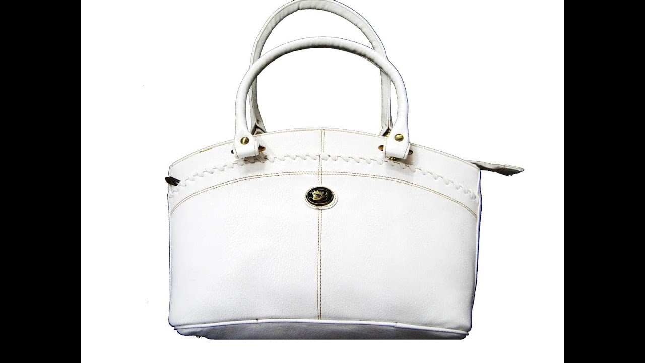 White Leather Handbags Cheap Small - YouTube