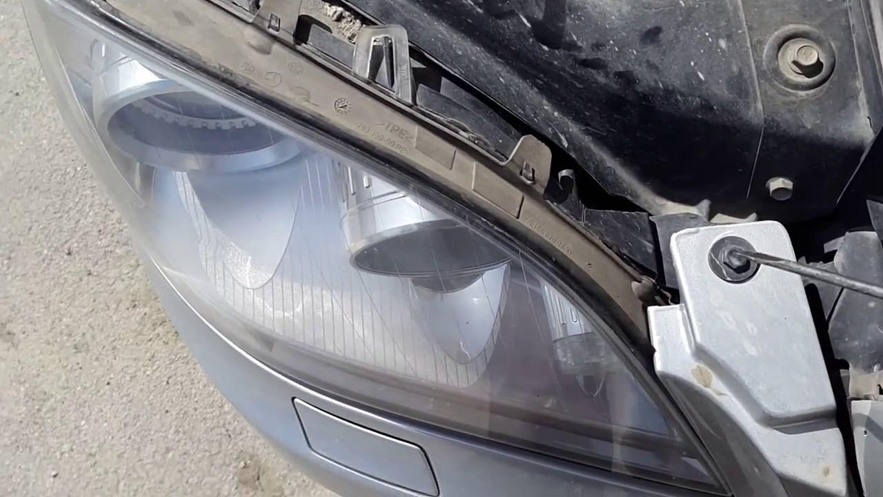 фотоотчет замены лампочки габаритов спереди мерседес gl 164
