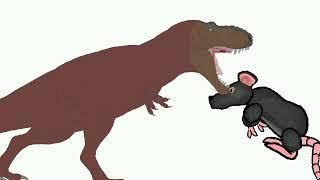 Tі-rex vs Крыса