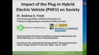 Impact of the PHEV on society - July 31, 2008