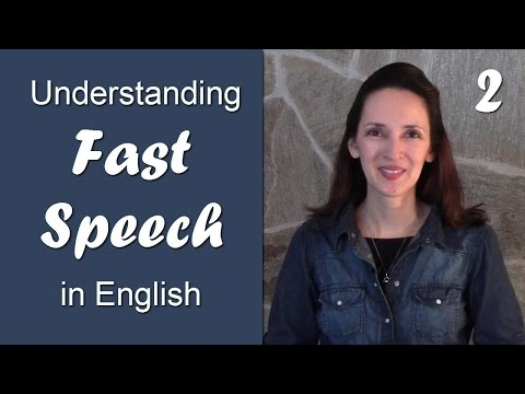 Day 2 - Linking Vowel Sounds - Understanding Fast Speech in English: