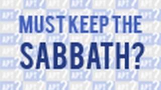Should a Christian observe the Sabbath? - Tim Conway
