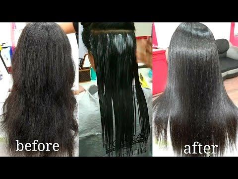 hair smoothening tutorial in Hindi step by step