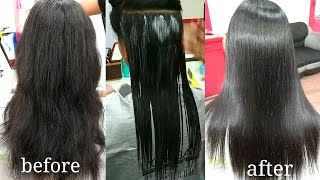 hair smoothening tutorial in Hindi (step by step)