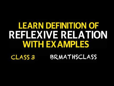 LEARN DEFINITION OF REFLEXIVE RELATION WITH EXAMPLES