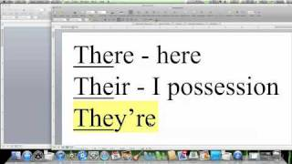 Spelling Tips: THERE, THEIR, THEY'RE  - How to Spell Words, Confused Words