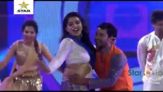 Amarpali Dube&Nirahua in Dubai show Bhojpuri program Dec2016