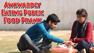 Awkwardly Eating Public Food Prank - Most Funny...