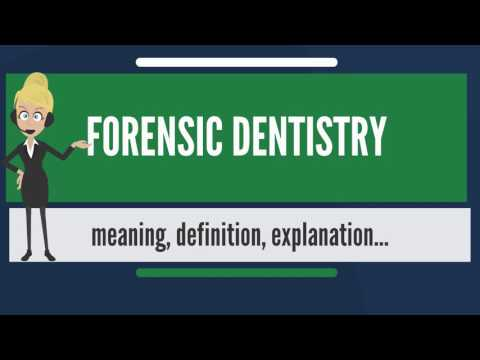 What is FORENSIC DENTISTRY? What does FORENSIC DENTISTRY mean? FORENSIC DENTISTRY meaning