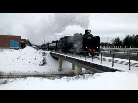 Ukko-Pekka Hr1 1009 puuskuttaa Mikkelistä kohti Otavaa.