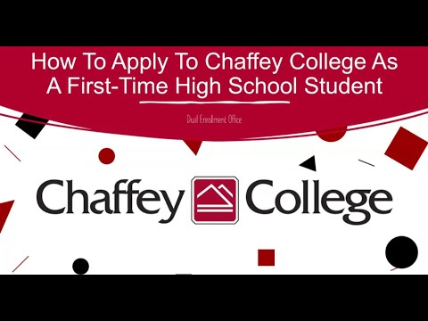 How To Apply To Chaffey College As A First-Time High School Students