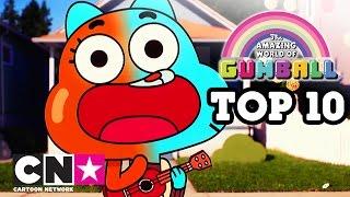Uimitoarea lume a lui Gumball | Top 10 cu cele mai bune cântece | Cartoon Network