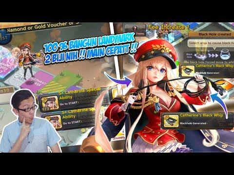 Line get rich : Catherine gameplay, WOHOO buat main bangkrut cepat nih ! 100% bangun landmark