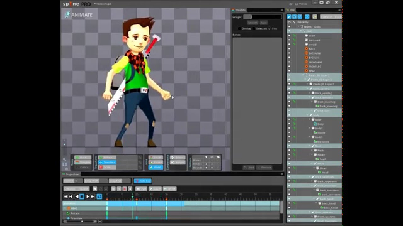 Character Design Unity : D character creation from photoshop to unity using spine