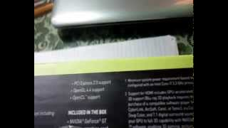 Unboxing of GALAX NVIDIA GT GC 730 1GB DDR5