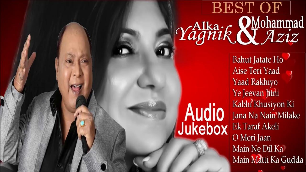 Download Best Of Alka Yagnik & Mohd Aziz hits Bollywood Songs   Best Romantic Duets   Audio Jukebox