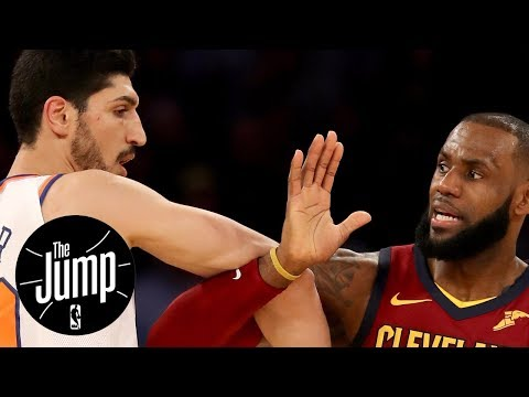 Smart for Enes Kanter and Frank Ntilikina to go after LeBron James? | The Jump | ESPN