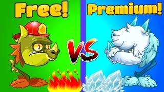Plants vs Zombies 2 Gameplay SNAPDRAGON vs COLD SNAPDRAGON PVZ 2 Mod Free vs Premium Primal Game