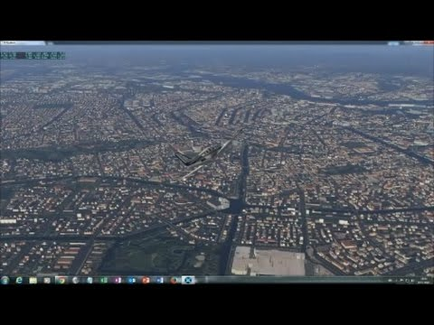 X Plane 11 VFR over The Netherlands -  Randstad Area