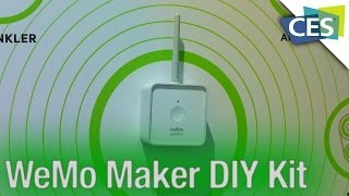 Control Power To Any Device In Your House Wirelessly With the WeMo Maker! - CES 2014