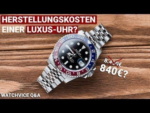 HERSTELLUNGSKOSTEN Einer LUXUS-UHR? WATCHVICE Q&A | Omega Seamaster Verlosung