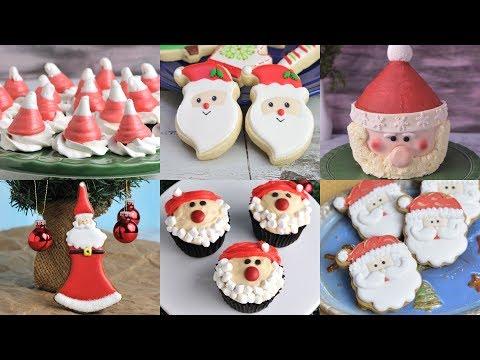 10 AMAZING SANTA COOKIES, CAKES, TREATS by HANIELA'S