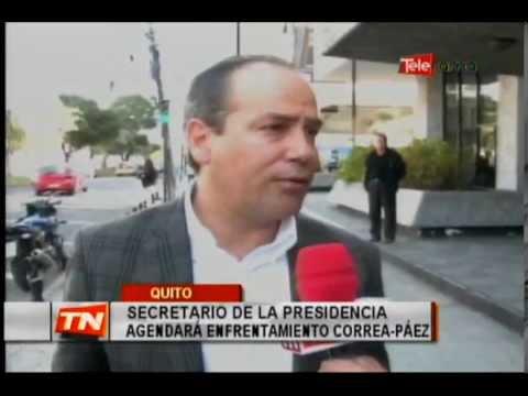 Secretario de la presidencia agendará enfrentamiento Correa-Páez